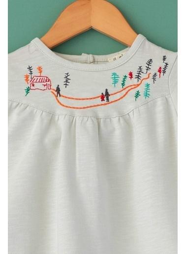 Cigit Country Nakışlı Elbise Taş